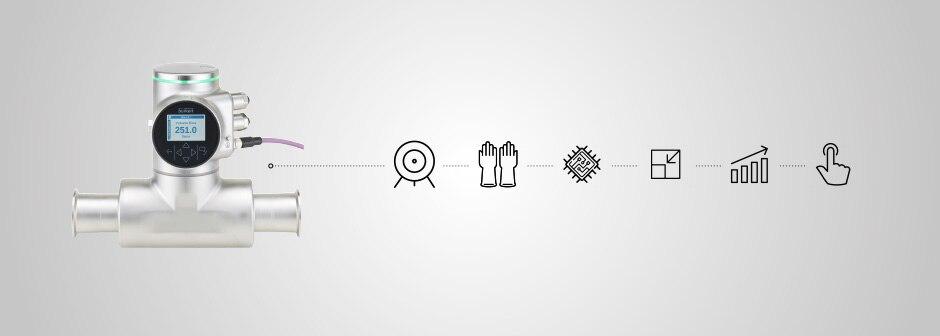 FLOWave auf grauem Hintergrund mit Icons